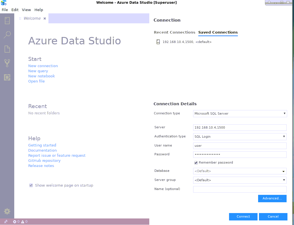 Azure Data Studio linux